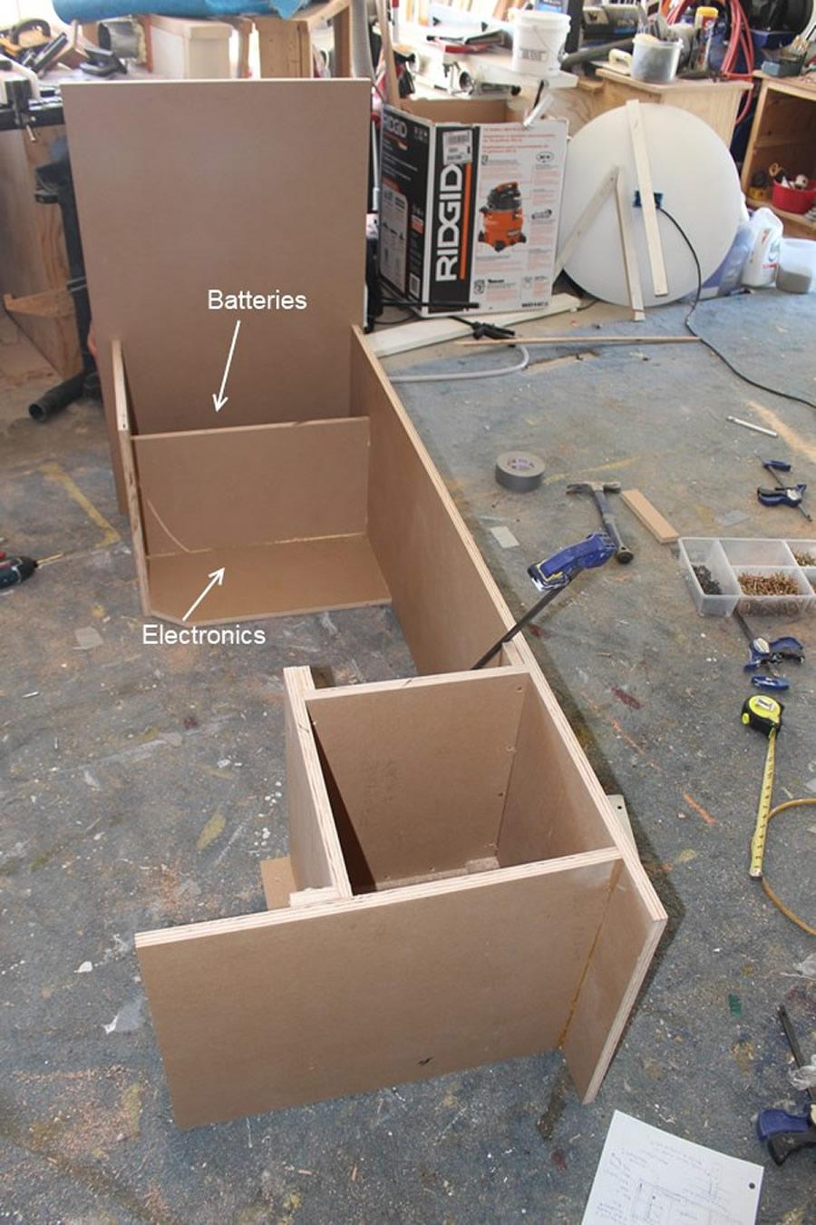 electronics and propane box