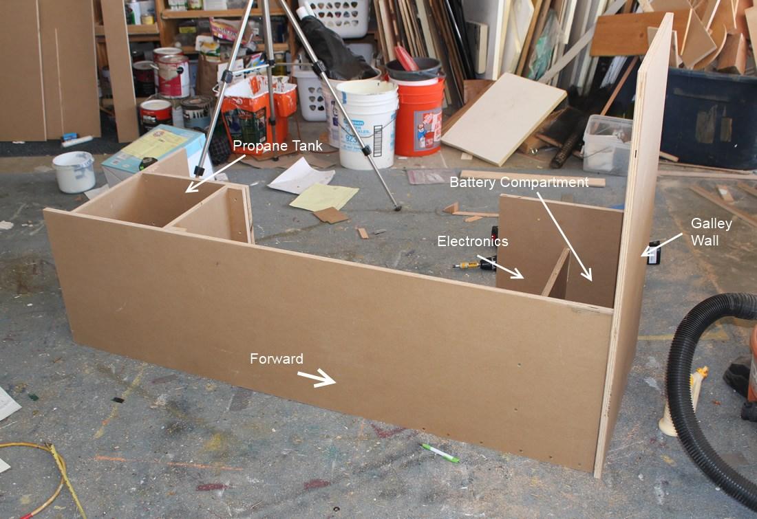 driver side bed platform