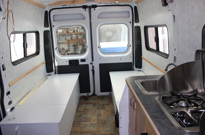 Our Promaster Camper Van Convresion Building Beds