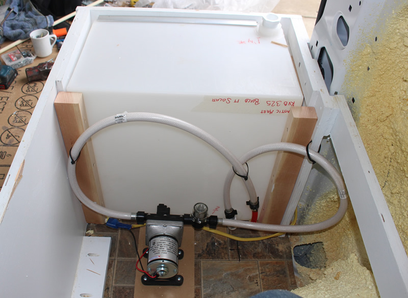 Install fresh and grey water systems build a green rv water tank in forward part of bed enclosure asfbconference2016 Choice Image