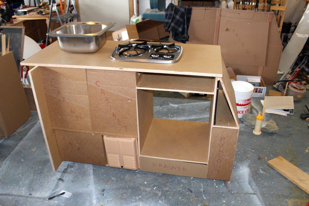 galley base cabinet RV conversion