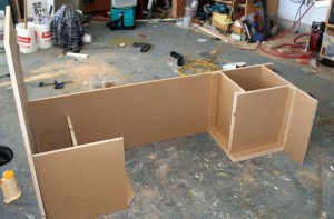 cabinet for propane tank - RV conversion