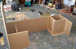cabinet for propane tank - RV conversion