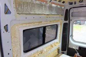 Van window insulation