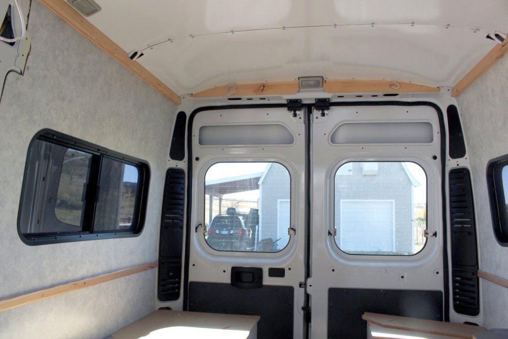 Installing paneling on our RV conversion