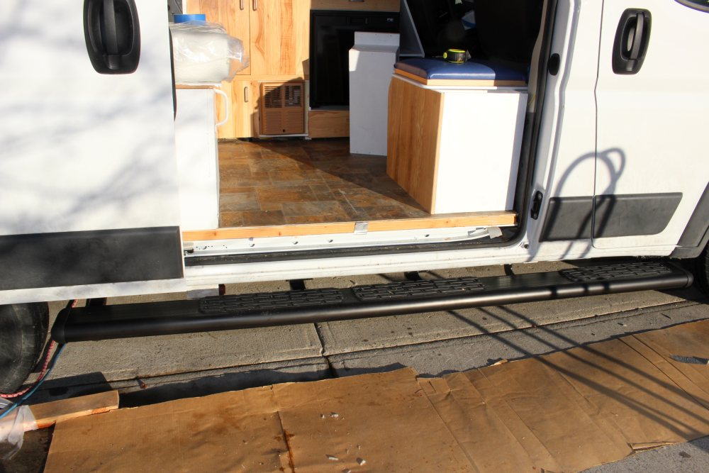 Our ProMaster Camper Van Conversion - Running Boards ...