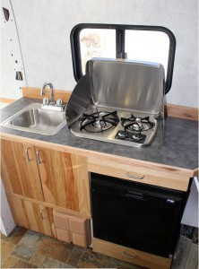 Installing Galley Cabinet Sink Fridge Stove