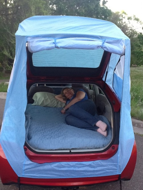 Camping tent for a Prius