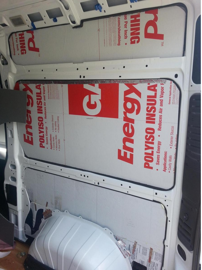 rigid foam board insul camper van
