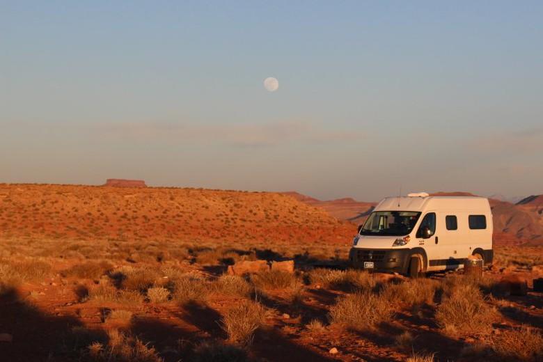 Camping At The Goosenecks Sourthern Utah