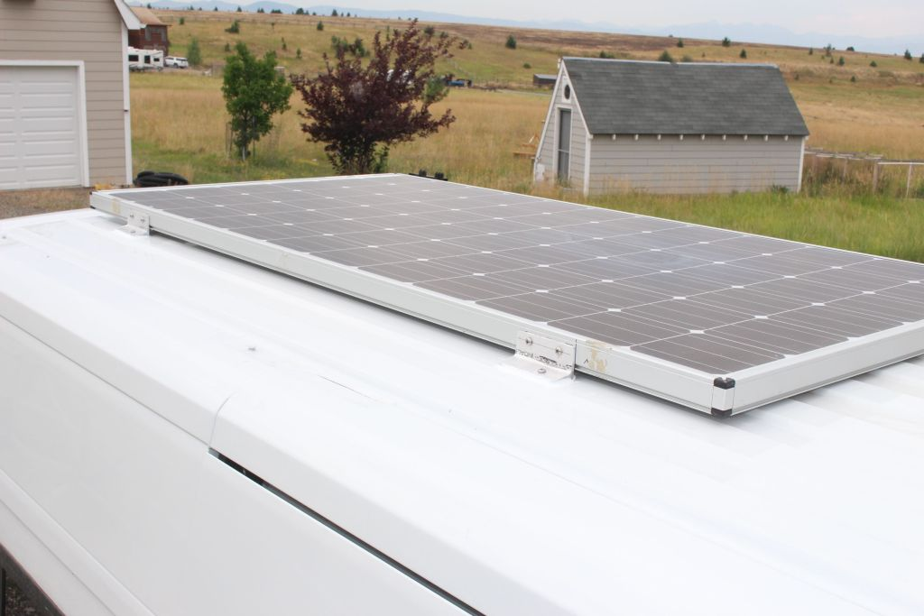 Our Promaster Van Conversion Solar Panel Mounting