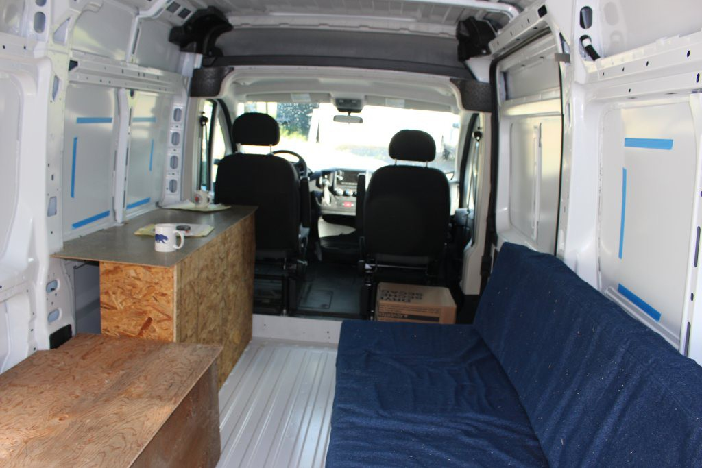 Our Promaster Camper Van Conversion Interior Layout