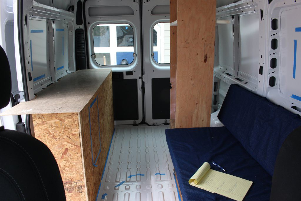 Promaster Rv Build >> Our ProMaster Camper Van Conversion - Interior Layout - Build A Green RV