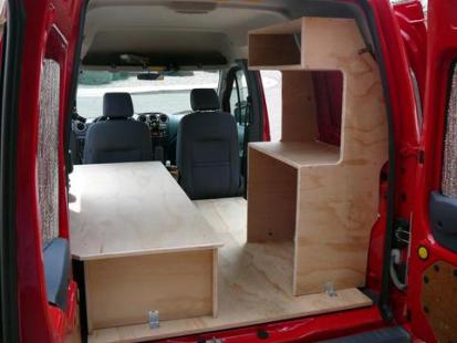 small van camper conversions build a green rv. Black Bedroom Furniture Sets. Home Design Ideas