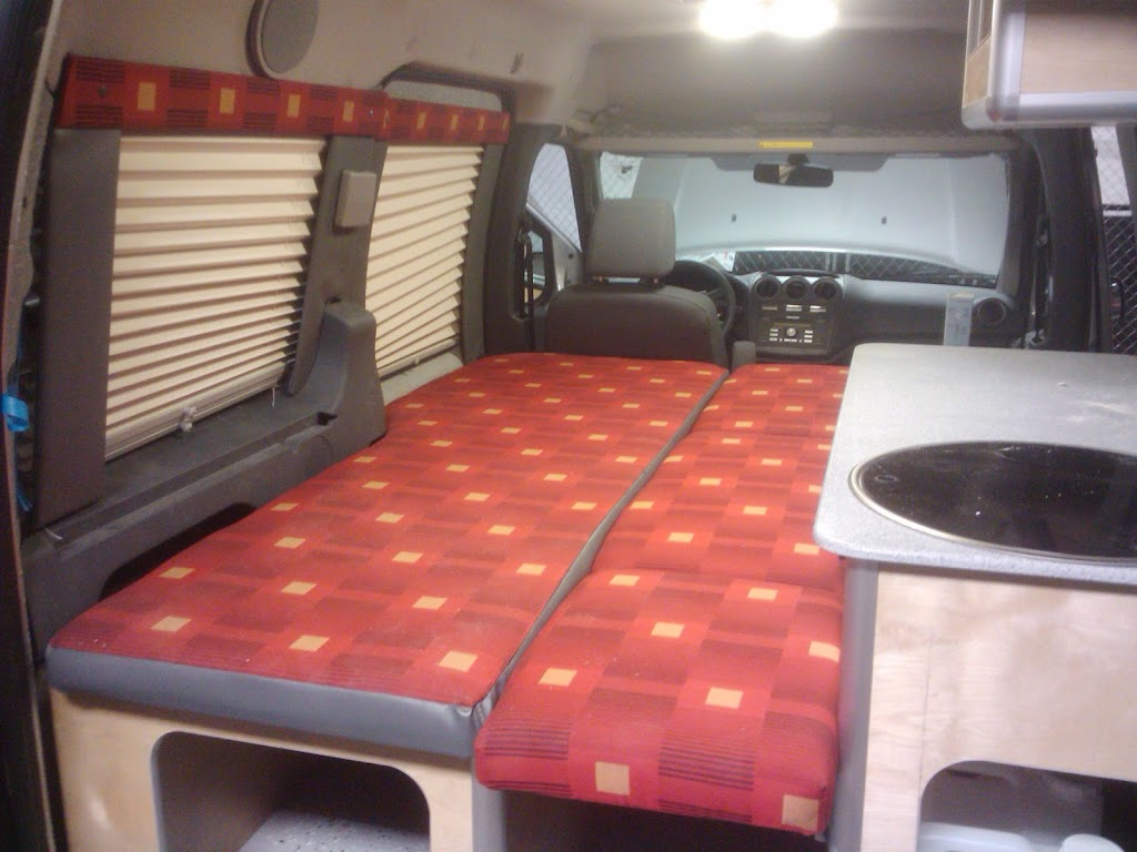 COSVMorehead01 A Ford Transit Connect Conversion Morehead Design Lab Camper Van Conversions