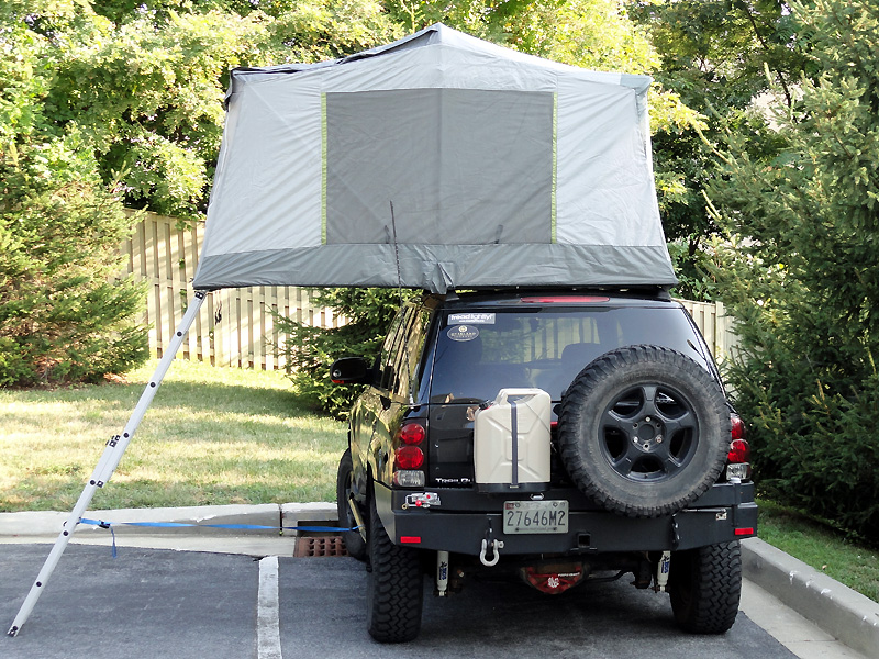 Popup Car Top And Attached Camping Tents
