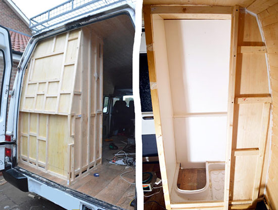 DIY Shower Build For Camper Van Conversion