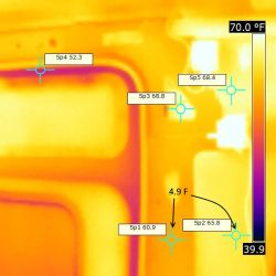 thermal bridging test for camper van conversions
